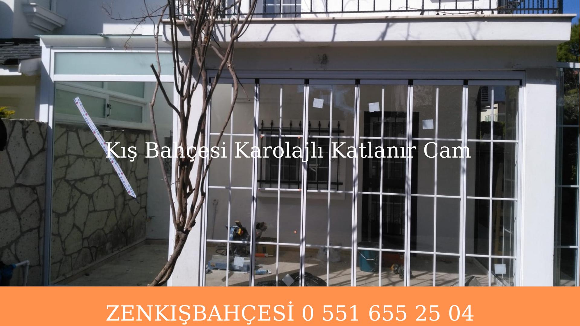 Kış bahçesi karolaj camlı katlanır cam uygulaması İzmir